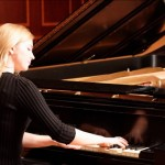 Older student performing at spring piano recital